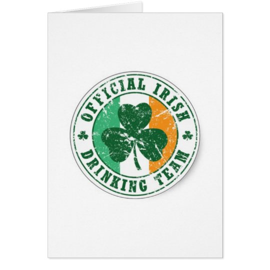 Official Irish Drinking Team Card