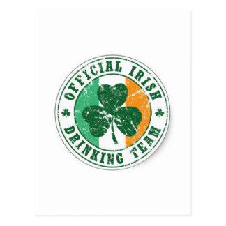Official Irish Drinking Team Postcard