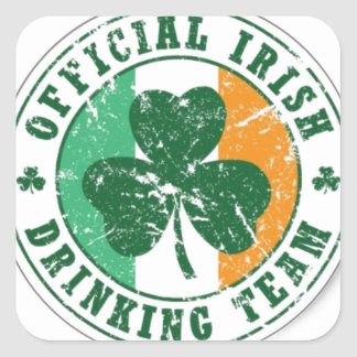 Official Irish Drinking Team Square Sticker