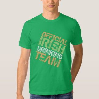 Official Irish Drinking Team T Shirt