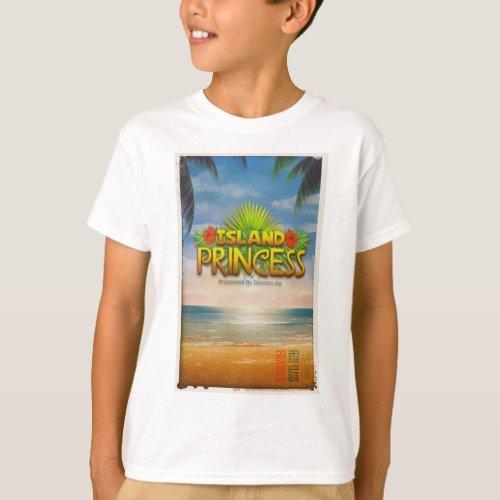 Official Island Princess Recital T_Shirt Kids