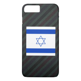 Official Israel Flag on stripes iPhone 7 Plus Case