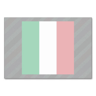 Official Italy Flag on stripes Card