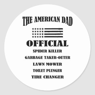 Official Jobs of The American Dad Classic Round Sticker