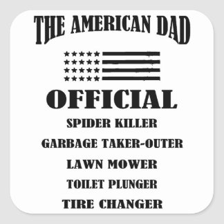 Official Jobs of The American Dad Square Sticker