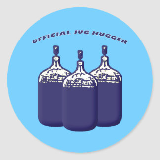 Official Jug Hugger Classic Round Sticker