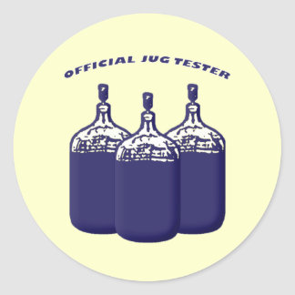 Official Jug Tester Classic Round Sticker