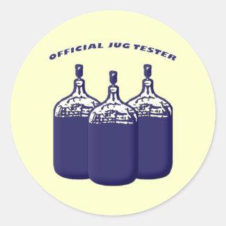 Official Jug Tester Round Sticker