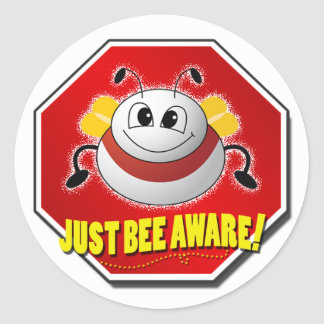 Official Just Bee Aware Logo Classic Round Sticker