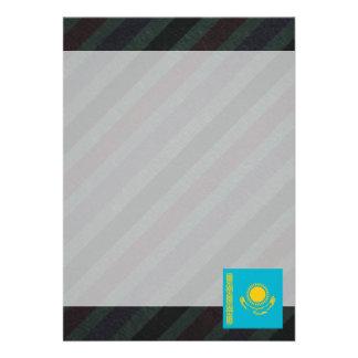"Official Kazakhstan Flag on stripes 5"" X 7"" Invitation Card"