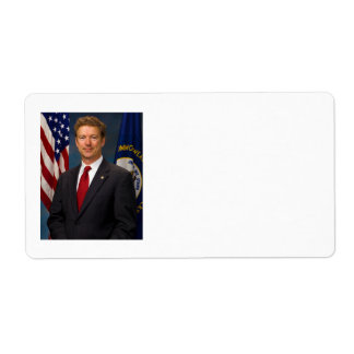 Official Kentucky Senator Rand Paul Portrait Label