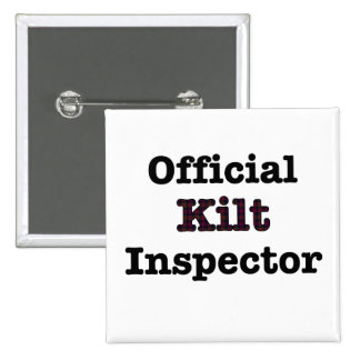 Official Kilt Inspector 2 Inch Square Button