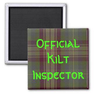 """""""Official Kilt Inspector"""" Refrigerator Magnets"""