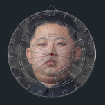 "official kim jong un dartboard<br><div class=""desc"">because sooner or later you&#39;ll be wanting to fling sharp pointy things at this guy,  it can&#39;t be helped... </div>"