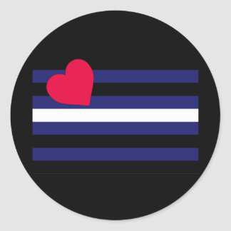 OFFICIAL LEATHER PRIDE FLAG CLASSIC ROUND STICKER