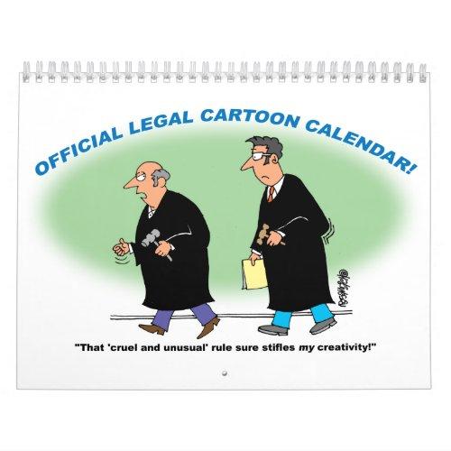 Legal Cartoon Calendar