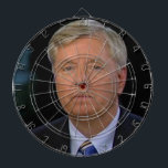 """official lindsey graham dartboard<br><div class=""""desc"""">because a warmongering butt-head needs to be the target of your unrelenting dart throwing,  or some such as that.</div>"""
