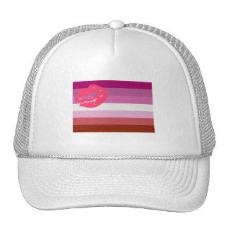 OFFICIAL LIPSTICK LESBIAN FLAG TRUCKER HAT