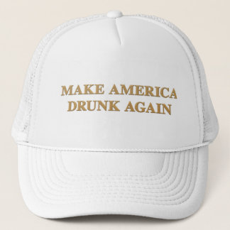 Official Make America Drunk Again Cap - White/Gold