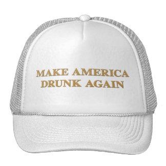 Official Make America Drunk Again Cap - White/Gold Trucker Hat