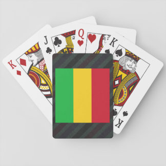 Official Mali Flag on stripes Playing Cards