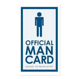 Official Man Card Double-Sided Standard Business Cards (Pack Of 100)