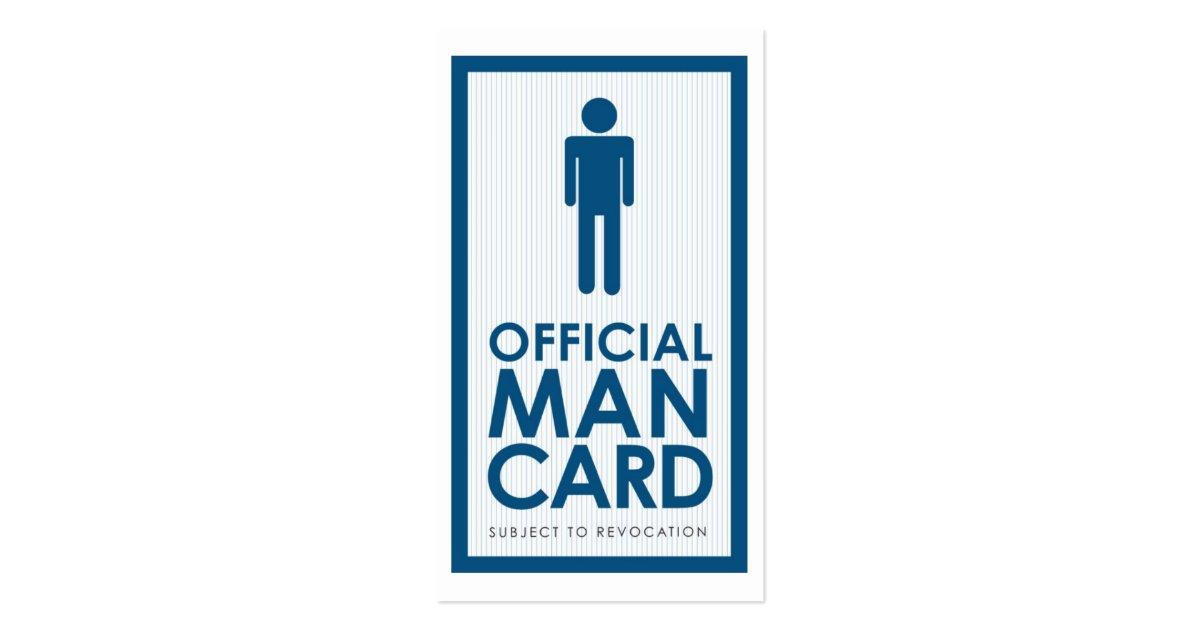 Official Man Card Standard Business Card : Zazzle