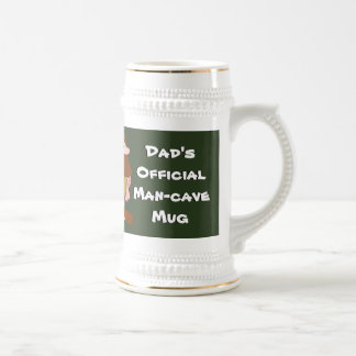 Official Man Cave Mug Brown Haired Caveman