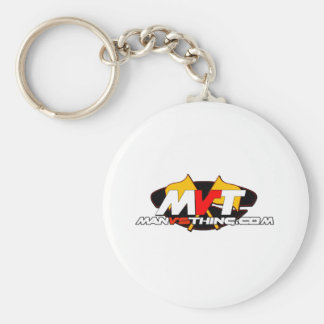 Official Man Vs Thing Logo Basic Round Button Keychain
