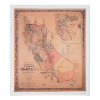 Official Map of California Poster
