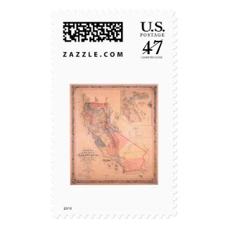 Official Map of California Stamp