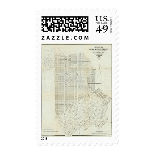Official Map of San Francisco Postage Stamps