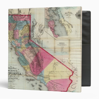Official map of the State of California 3 Ring Binders