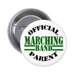 Official Marching Band Parent Pinback Button