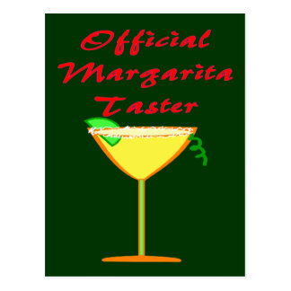 Official Margarita Taster  T-Shirts & Gifts Postcard