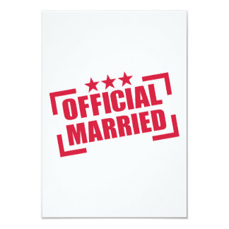 Official Married 3.5x5 Paper Invitation Card