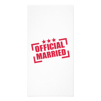 Official Married Personalized Photo Card