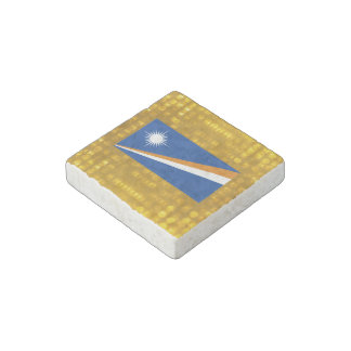 Official Marshallese Flag Stone Magnet