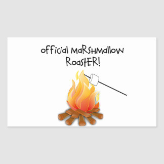 Official Marshmallow Roaster Rectangular Sticker