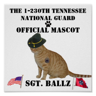 OFFICIAL MASCOT  POSTER WITH HAT