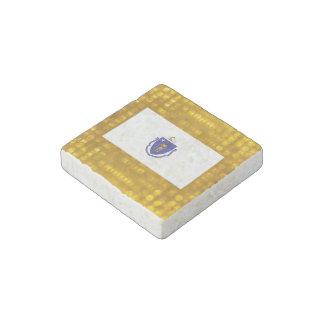 Official Massachusettsan Flag Stone Magnet