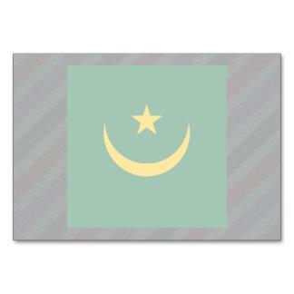Official Mauritania Flag on stripes Table Cards