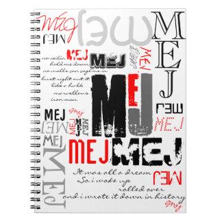 OFFICIAL MEJ Gear Spiral Notebooks