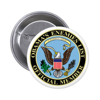 Official Member of Obama's Enemies List Pinback Buttons
