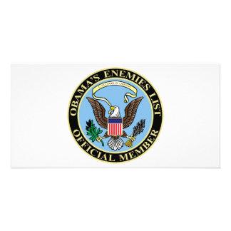 Official Member of Obama's Enemies List Custom Photo Card