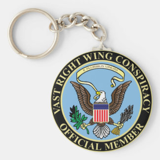 Official Member of The Vast Right Wing Conspiracy Keychain