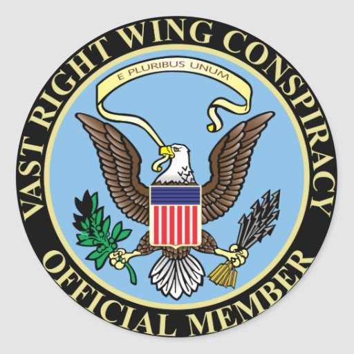 Official Member of The Vast Right Wing Conspiracy Round Sticker