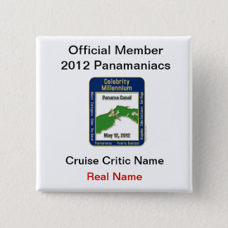 Official Member Panamaniacs Pinback Button