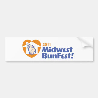 Official MidWest BunFest logo bumpersticker Bumper Sticker