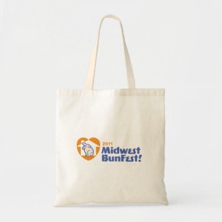 Official MidWest BunFest logo tote bag